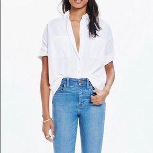 Madewell White Courier Shirt